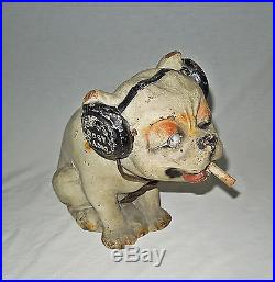 Vtg Frost Fone Radio Old King Cole Papier Mache Dog Advertising Store Display