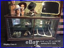 VTG Wood and Glass Display Cases