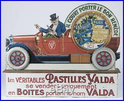 Valda Automate 1929 Automobile IL Court Porter Bon Remede Vintage Publicitaire