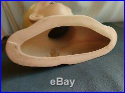 Vintage 1930's 40s Child Baby Mannequin Head Bust Store Display Hand Painted
