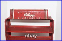 Vintage 1930's Kellogg's Art Deco Pressed Steel Cereal Store Display