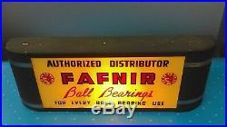 Vintage 1940's Art Deco Fafnir Ball Bearings Lighted Store Display Sign K