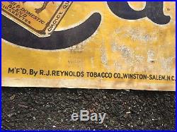 Vintage 1941 CAMEL Cigarettes GRINNELL LITHO Advertising Banner. 95 X 44 Huge