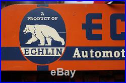 Vintage 1950's Echlin Original Store Display Sign Fully Stocked Parts Cabinet