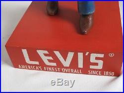 Vintage 1950's Levi's Cowboy Figural Sore Display