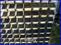 Vintage 1950's Metal Industrial Parts Bin Organizer Hardware Store Display Rack
