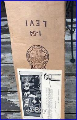 Vintage 1954 Levis Store Display Sign, 8ft Litho Corrugated Cardboard, NOS