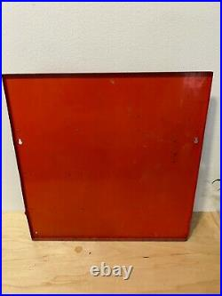Vintage 1959 RCA Electron Tube Metal Display Stand Sign Parts Rack A. M. D. Co