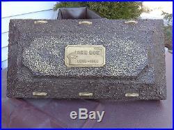 Vintage 1960, JOHN DOE, Miniature Mortuary Funeral Grave Casket Burial Vault