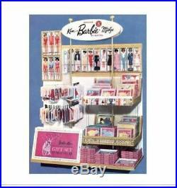 Vintage 1960's Barbie Store Display Sign Lighted Ken Midge