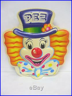 Vintage 1960's Pez Store Display 3D Pez Clown Display Topper 17¾ Tall VERY NICE