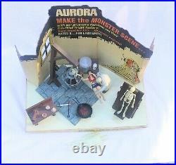 Vintage 1970 Aurora Monster Scenes STORE DISPLAY