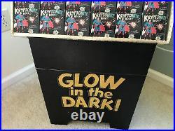 Vintage 1977 Superman Kryptonite Rocks Store Display+48 Boxes Glow In The Dark