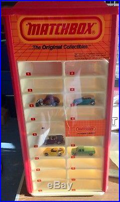 Vintage 1984 MATCHBOX 4 Sided Store Display Case for 80 Cars
