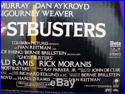 Vintage 1985 Original GHOSTBUSTERS Movie VHS / BETA Video STORE Display Toy, NM