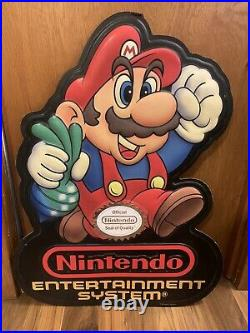 Vintage 1989 Nintendo Super Mario Bros 2 NES Store Sign NM with chain