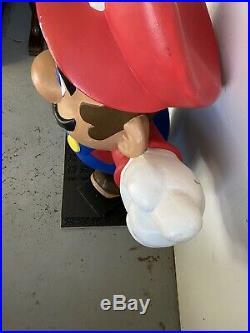 Vintage 1989 Nintendo Super Mario Statue CES Store Display Sign NES SNES