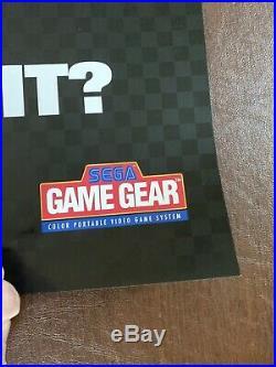 Vintage 1992 Sega Genesis Sonic Hedgehog 2 GIANT 40x26 Store Display Sign Poster