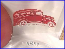 Vintage 2 Gallon Glass Gordon's Foods Snacks Jar & LID Store Display Tom's Lance