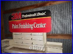 Vintage 3 M Paint Store Metal Display Cabinet Automotive Paint