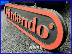 Vintage 4-foot Nintendo Double-Sided Hanging Store Promotional Display Sign NES
