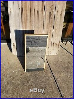 Vintage 70's Nike Shoe Store Mirror Wooden Frame Heavy Sturdy 12x22