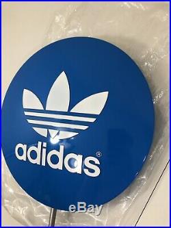 Vintage Adidas Lollipop Blue Trefoil Sign Store Display NEVER USED Sneaker Sign