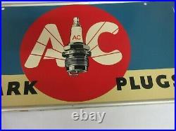 Vintage Advertising A C Sparkplug Tin Store Display Automobilia Sign # 74