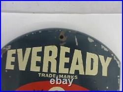 Vintage Advertising Eveready Thermometer Garage Store Auto Display A-153