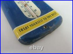 Vintage Advertising Mail Pouch Small Tobacco Store Display Thermometer 626-r