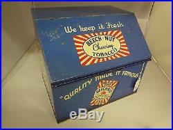 Vintage Advertising Tobacco Beech-nut Store Counter Display Bin Tin G-629