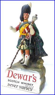 Vintage Advertising figure DEWAR´S scotch whisky, rubber composition, highlander