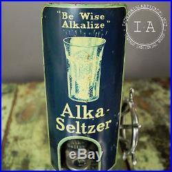 Vintage Alka Seltzer Dispenser Advertising Display