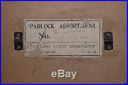Vintage Antique Champion 6 Lever Lock Advertising Store Display