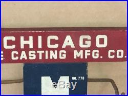 Vintage Antique Hardware Advertising Display Sign Chicago Die Casting Co