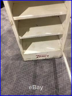 Vintage Antique Tom's Toasted Peanuts Store Display Cabinet Rare! Local Pickup