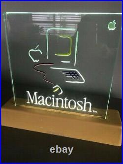 Vintage Apple Macintosh Picasso Lighted 1984 Dealer Sign RARE