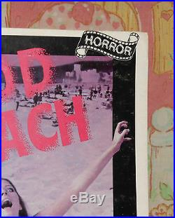 Vintage BLOOD BEACH video store counter display small standee