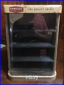 Vintage Camillus Knife Display Case witho Key Wood » Vintage Store