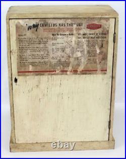 Vintage Camillus Oak Knife Store Counter Display Case Camillus has the Edge
