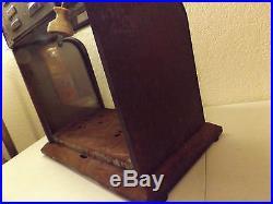 Vintage Carter Carbureter Display Case, Curved Front Glass, Tin