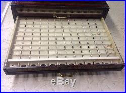 Vintage Clark's O. N. T. Boilfast Thread Spool General Store Metal Cabinet