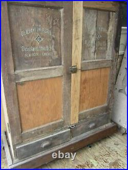 Vintage Cleveland Twist Drill Co Wood Cabinet Cleveland Ohio Store Display
