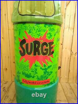 Vintage Coca Cola Surge Display Cooler Surge Soda Bottle Store Display Cooler