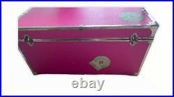 Vintage Collectible Victorias Secret Pink Store Display Trunk Steamer Large
