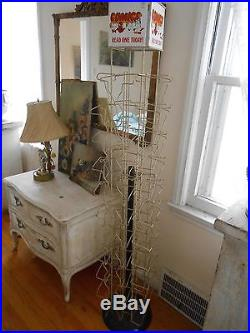 Vintage Comic Book Spinner Display Rack Great Graphics 1960s 70s