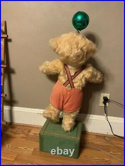 Vintage Creegan Animated Mechanical Bear Christmas Store Display