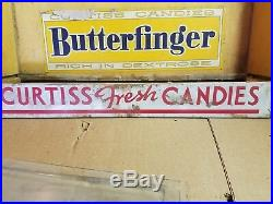 Vintage Curtiss Store Counter Display Cabinet Baby Ruth Butterfinger Jolly Jack