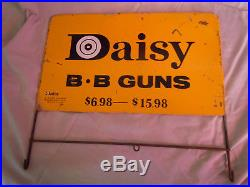 Vintage DAISY B. B GUNS Store Display Sign