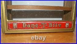 Vintage DANE-T-BITS Cabinet Box Store Display Antique Advertising